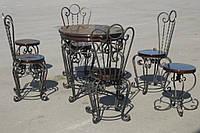 Кованый садовый стол и стулья