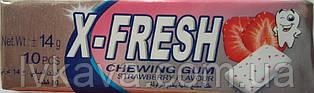 Жевательная резинка  X-Fresh клубника, 14 гр
