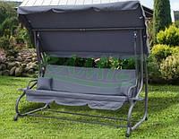 Садовая качеля - диван 4-х местная раскладная Серая В НАЛИЧИИ + 2 подушки в подарок
