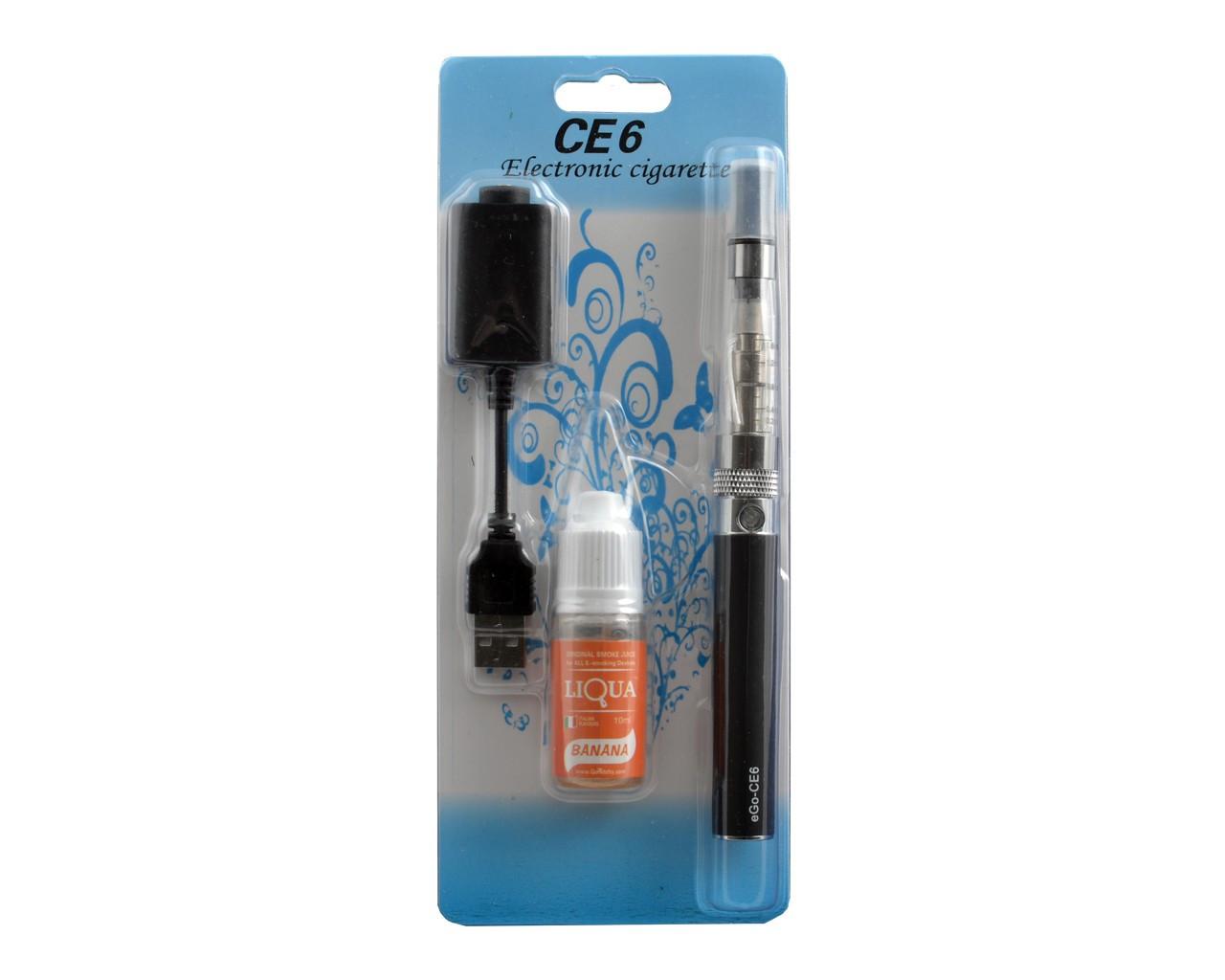 Электронная сигарета eGo-CE6 900mAh с жидкостью в комплекте