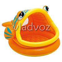 Детский надувной бассейн рыбка рыба Intex 57109