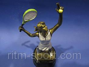 Большой теннис женский наградная статуэтка, фото 2