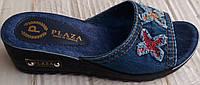 Женские джинсовые сабо с вышивкой,Турция,размеры 37-41 ,V843