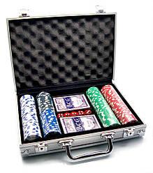 Набір для гри в покер в алюмінієвому кейсі 200 фішок Duke