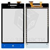 Тачскрин (сенсор) для мобильного телефона HTC A620e Windows Phone 8S, синий