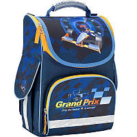 Каркасный школьный Кайт  рюкзак для мальчика 11 л ,Гоночная машина