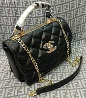 Модная сумка-клатч Chanel Шанель на цепочке черная