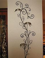 Кованый настенный подсвечник Лилии, фото 1