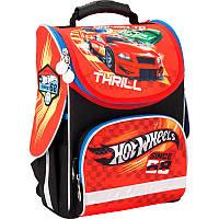 Каркасный школьный Кайт  рюкзак для мальчика 11л,Хот вилс 2