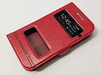 Чехол книжка с окошками Samsung Galaxy Ace 2 i8160 red