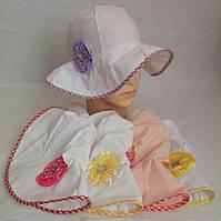 Панамка для девочки с цветком (хлопок) р-ры 52