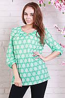 Ментоловая блуза для женщин размеры: 48,50,52