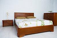 """Деревянная кровать """"Милена с интарсией"""" с подъемным механизмом"""