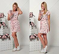 Женское красивое платье с поясом (2 цвета), фото 1