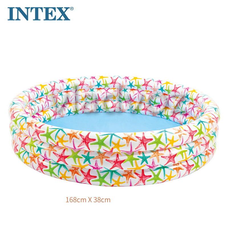 фото детского надувного бассейна 3 кольца 168-41см 481л. 56440