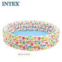 Детский надувной бассейн 3 кольца 168-41см 481л. Intex 56440