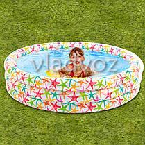 Детский надувной бассейн 3 кольца 168-41см 481л. Intex 56440, фото 3