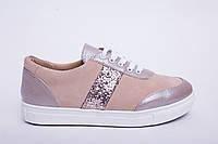 Кроссовки №370-3 пудра + камни, фото 1