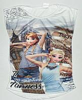 Яркие Детские футболки на девочку Холодное сердце Турция Размеры 104- 152