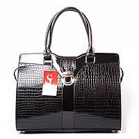 Деловая сумка 1373damla портфель лаковый крокодил