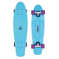 Спортивный скейтборд для начинающих райдеров синий BUFFY 28'' Long board