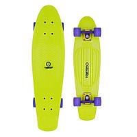 Спортивный скейтборд для начинающих райдеров зелёный BUFFY 28'' Long board
