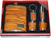 Подарочный набор 5 в 1: фляга/стопки/брелок/нож
