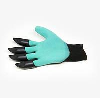 Садовые перчатки с когтями Garden Genie Gloves Гарден Джени Гловес, фото 1
