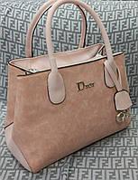 Сумка брендовая Christian Dior Диор розовая