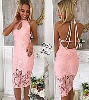 Красивое торжественное платье из гипюра