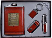 Подарочный набор Jack Daniels: фляга/брелок/зажигалка/нож
