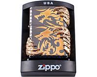Зажигалка фирменная бензиновая Zippo Когти дракона №4210. Качественная. Устойчивое пламя