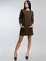Платье из замши 2151 хакки