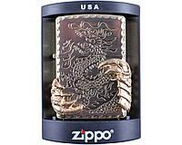 Зажигалка фирменная бензиновая Zippo Когти дракона №4213 + бензин высокой очистки. Запальничка