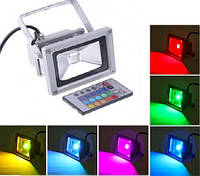 Светодиодный прожектор RGB 10w + пульт ДУ