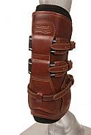 Ногавки конкурные, кожаные, передние