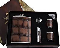 Подарочный набор 5 в 1: фляга/зажигалка/лейка/стопки