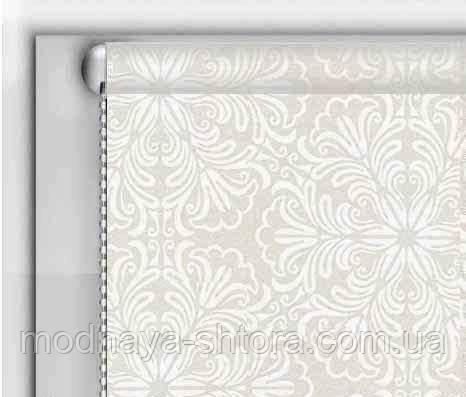"""Тканевые рулонные шторы """"DecoLUX"""" металлик принт (белый), РАЗМЕР 150х170 см"""