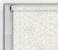 """Тканевые рулонные шторы """"DecoLUX"""" металлик принт (белый), РАЗМЕР 70х170 см , фото 1"""