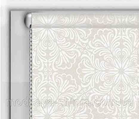 """Тканевые рулонные шторы """"DecoLUX"""" металлик принт (белый), РАЗМЕР 150х170 см , фото 1"""