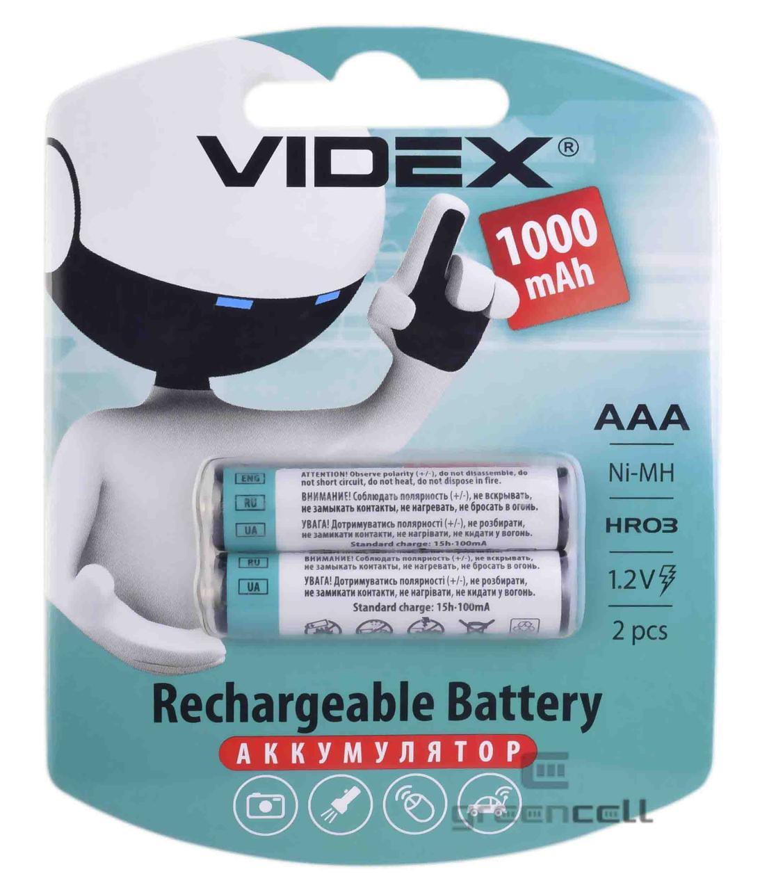 Аккумулятор Videx R03 1000 mAh Ni-MH