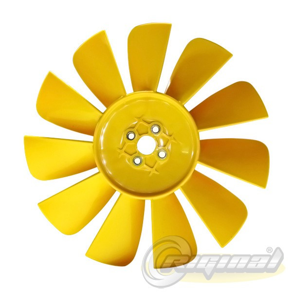 Вентилятор системы охлаждения (крыльчатка) Газель,Соболь 11 лопаст. желт. (пр-во Riginal,Россия)