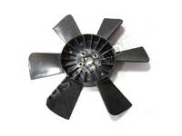 Вентилятор системы охлаждения (крыльчатка) Газель,Соболь 6 лопаст. черн. (пр-во г.Херсон)