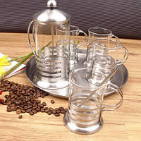 Френч-пресс для чая и кофе FD