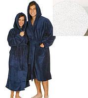 Махровый халат с капюшоном м.119-В ТМ Ярослав, белый