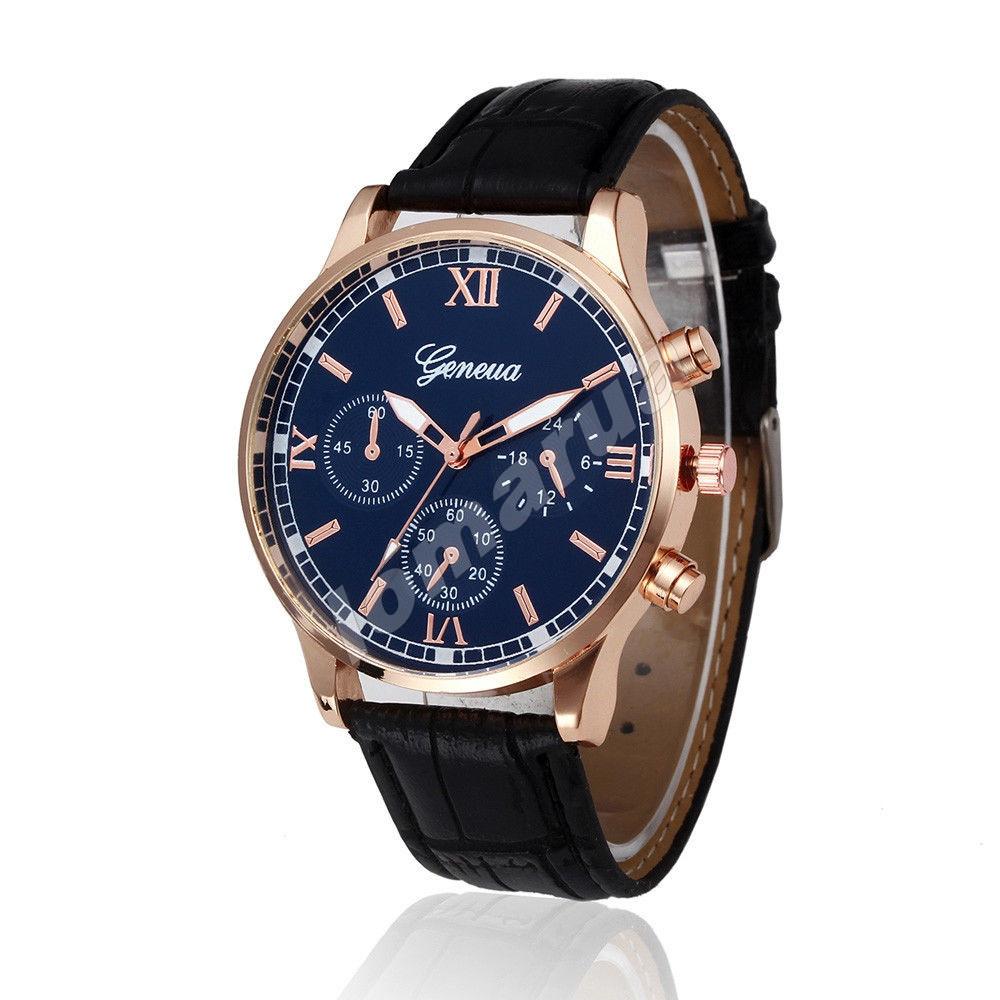Мужские кварцевые часы Geneva Gold V.1