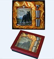 Подарочный набор 4 в 1: фляга/стопки/лейка