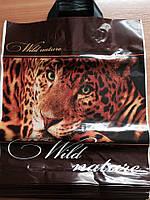 Пакет с петлевой ручкой Леопард 38*43 см