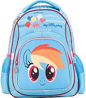 Модный рюкзак для девочки младшей школы 14 л Kite LP17-518S Голубой