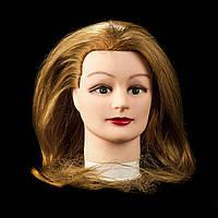 Учебный манекен, золотистый натуральный волос 50 см